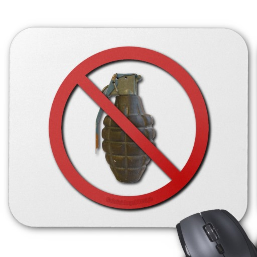 No Grenades Mouse Pads
