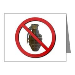 No Grenades Note Cards (Pk of 20)