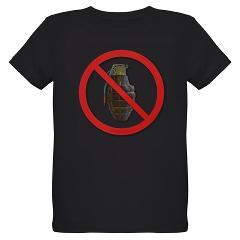 No Grenades Organic Kids T-Shirt (dark)