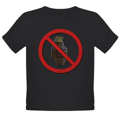 No Grenades Organic Toddler T-Shirt (dark)