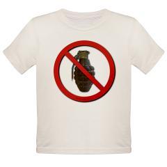 No Grenades Organic Toddler T-Shirt