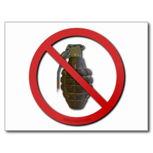 No Grenades Post Cards