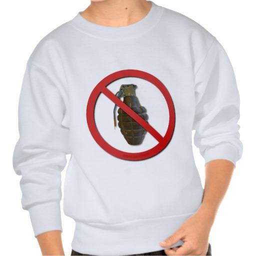 No Grenades Pull Over Sweatshirt