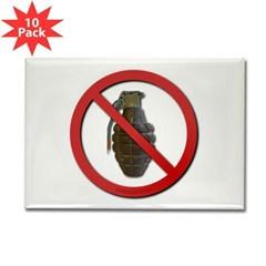 No Grenades Rectangle Magnet (10 pack)