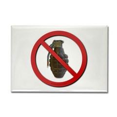 No Grenades Rectangle Magnet