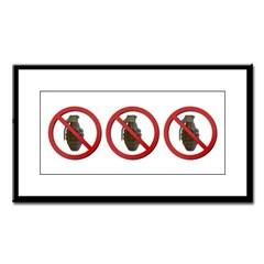 No Grenades Small Framed Print