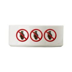 No Grenades Small Pet Bowl