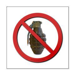 No Grenades Small Poster