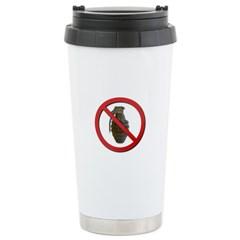 No Grenades Stainless Steel Travel Mug