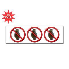 No Grenades Sticker (Bumper 50 pk)