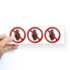 No Grenades Sticker (Bumper)