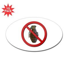 No Grenades Sticker (Oval 10 pk)