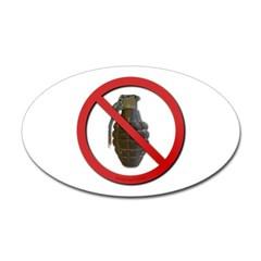 No Grenades Sticker (Oval)