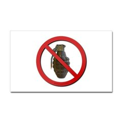No Grenades Sticker (Rectangle)