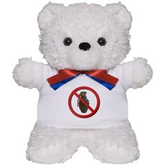 No Grenades Teddy Bear