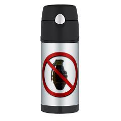 No Grenades Thermos Bottle (12 oz)