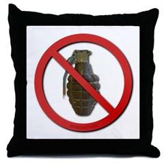 No Grenades Throw Pillow
