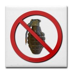 No Grenades Tile Coaster