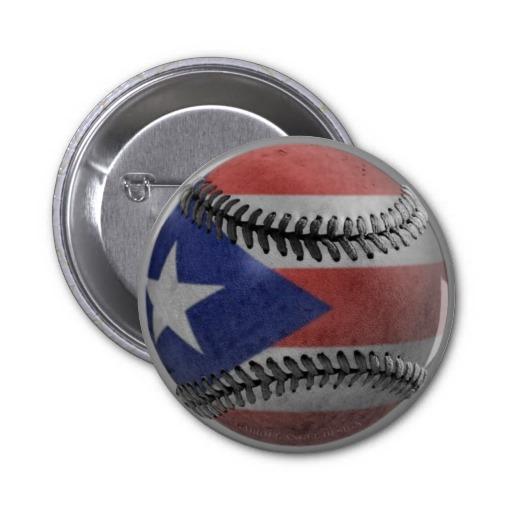 Puerto Rican Baseball Buttons