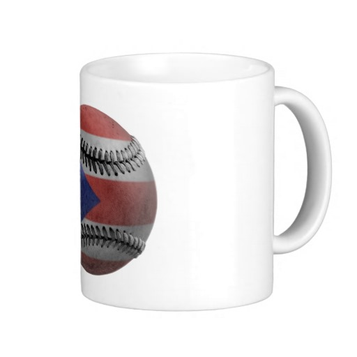 Puerto Rican Baseball Coffee Mugs