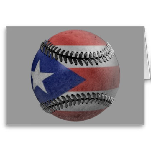 Puerto Rican Baseball Greeting Card