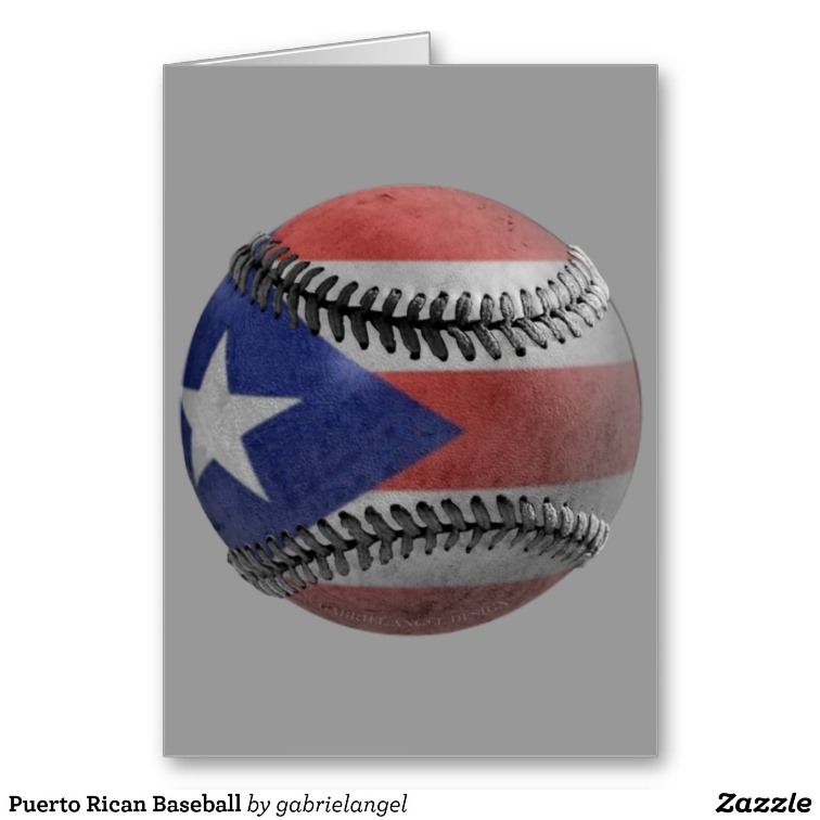 Puerto Rican Baseball Greeting Cards