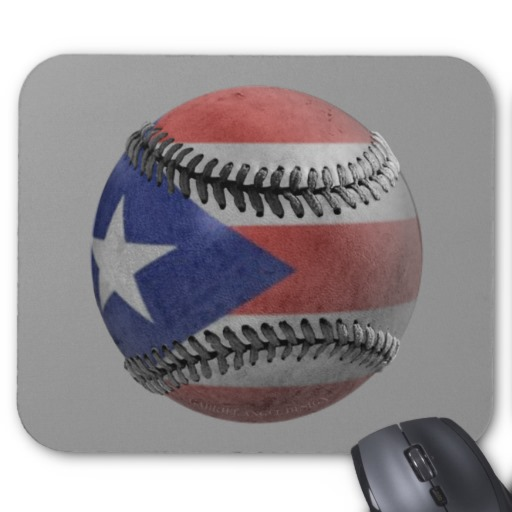 Puerto Rican Baseball Mouse Pads