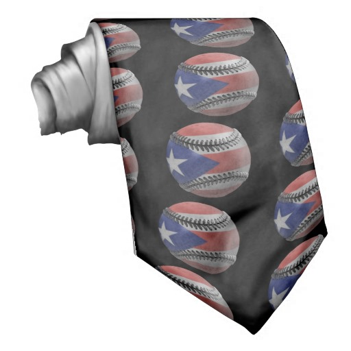 Puerto Rican Baseball Neck Ties