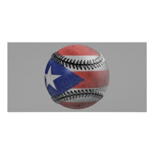 Puerto Rican Baseball Personalized Photo Card