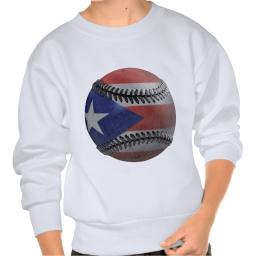 Puerto Rican Baseball Pull Over Sweatshirts