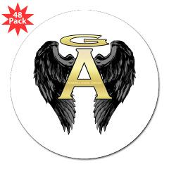 "Archangel Wings 3"" Lapel Sticker (48 pk)"
