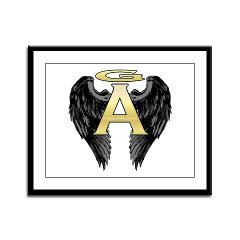 Archangel Wings Framed Panel Print
