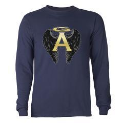Archangel Wings Long Sleeve Dark T-Shirt