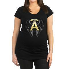 Archangel Wings Maternity Dark T-Shirt