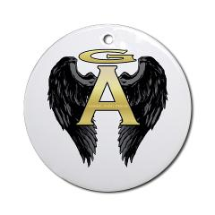 Archangel Wings Ornament (Round)