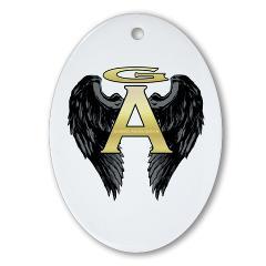 Archangel Wings Oval Ornament
