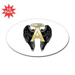 Archangel Wings Oval Sticker (10 pk)