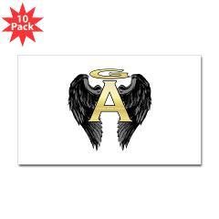Archangel Wings Rectangle Sticker 10 pk)