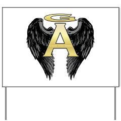 Archangel Wings Yard Sign