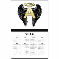Gabriel Angel Design Archangel Wings Logo Calendar