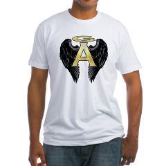 Gabriel Angel Design Archangel Wings Logo Fitted T