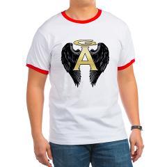 Gabriel Angel Design Archangel Wings Logo Ringer T