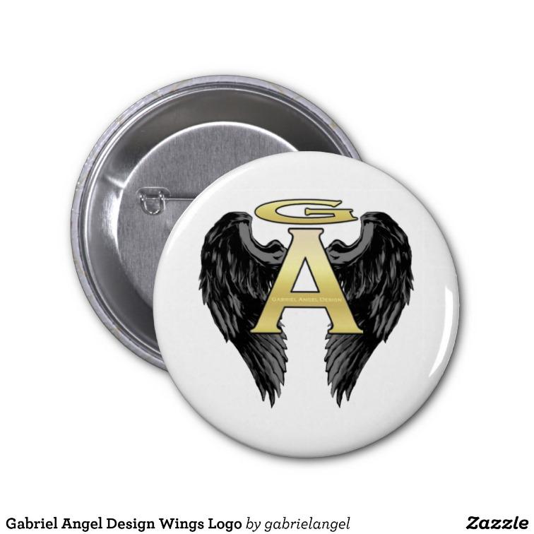 Gabriel Angel Design Wings Logo Button