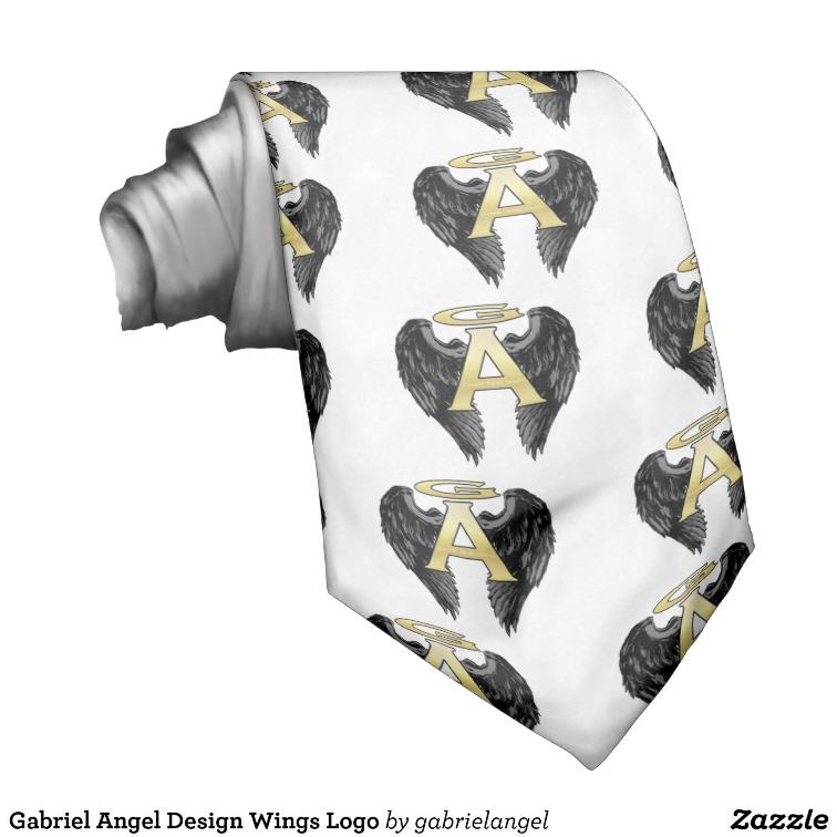 Gabriel Angel Design Wings Logo Custom Tie