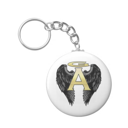 Gabriel Angel Design Wings Logo Keychains