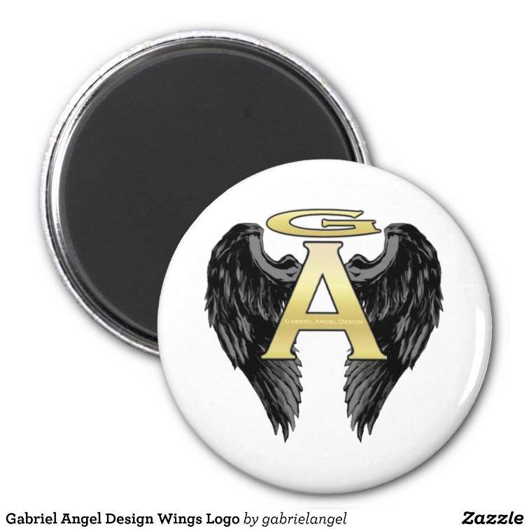 Gabriel Angel Design Wings Logo Magnets