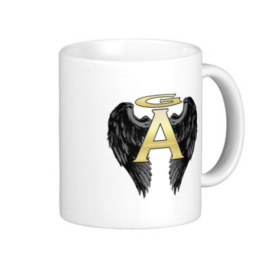 Gabriel Angel Design Wings Logo Mugs