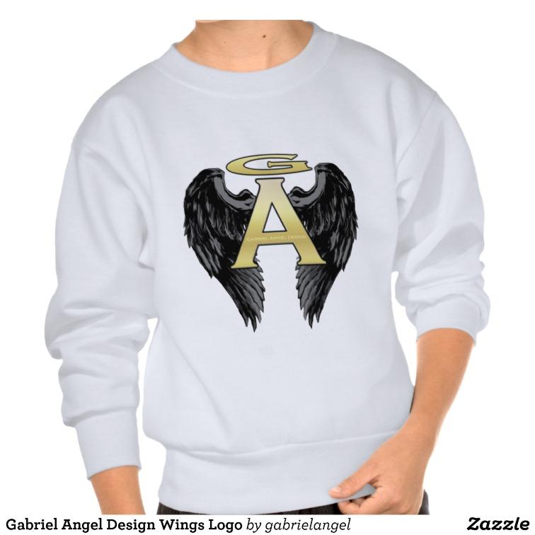 Gabriel Angel Design Wings Logo Pull Over Sweatshirt