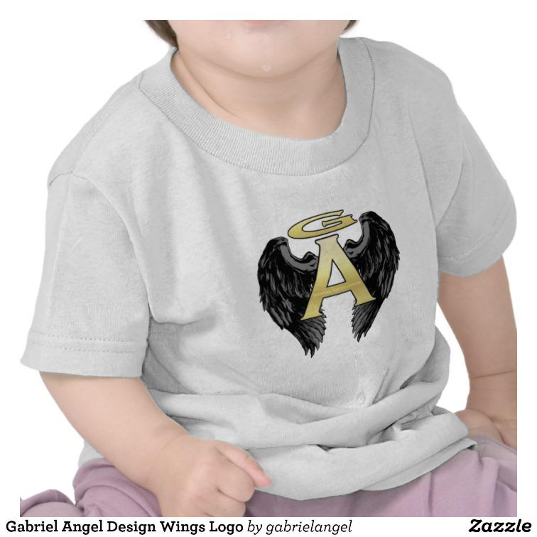 Gabriel Angel Design Wings Logo Tee Shirt