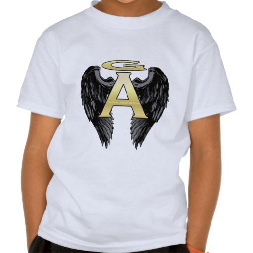 Gabriel Angel Design Wings Logo Tee Shirts